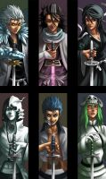 FANART: Bleach Bookmarks v.1 by Quirkilicious