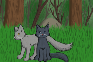 Bluestar and Featherwhisker by SasukeFan24