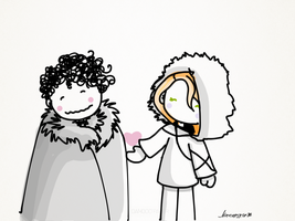 Snow and Ygritte by Ivannoska