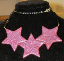 psychedelic star necklace by AnaInTheStars