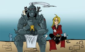 MY VERY FIRST FMA FANART by Gaara666