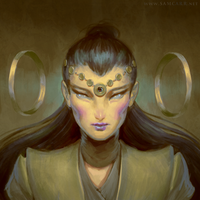 Guardian Helewise, The Listener by SamC-Art