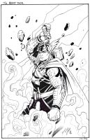 Thor Arrives - inks - Nichols - Egli by SurfTiki