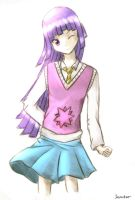 Human Twilight sparkle Colored by Jixed