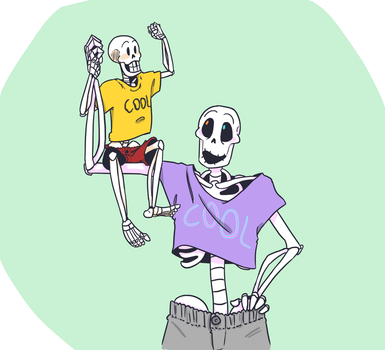 Orange Skeleson by QueensDaughters