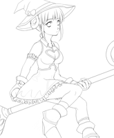 FLYFF Mage lineart by lucidsky