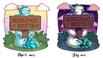 Old Art Redraw - Nerblesocks Signpost by oddsocket