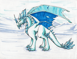 Ice Dragon by TakenFlyght