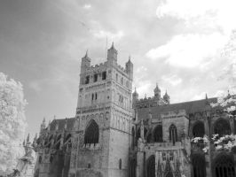 Exeter Cathedral in InfraRed: 1 by yaschaeffer