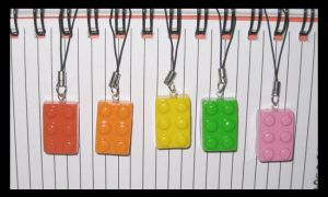 Clay Lego Charms by softbluecries