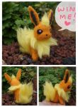 WIN ME! Felted flareon mini plush giveaway!! by SilkenCat