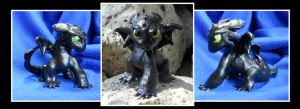 Mini Toothless - painted by Tatsu87