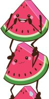 ladder watermelon by tintanaveia