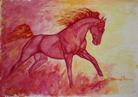 Flames watercolor by Midnight-Sun-Art