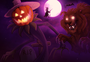 Halloween creatures by Please-be-careful