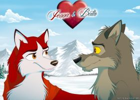 Jenna and Balto by Amyloup