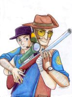 Sniper and Scout by kytri