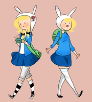 Modern Fionna and FIONNA by SplicedLamia