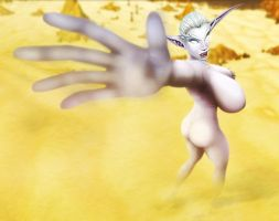 Giantess Lora - Caught in a Sandstorm by Cru-the-Dwarf