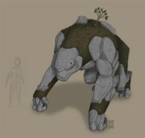 Earth Elemental - coloured by philby