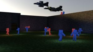 Minecraft clay soldier battle by hg-Jake-almighty