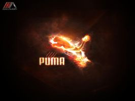 puma fire logo by REDFLOOD