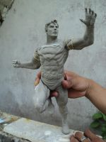 SUPERMAN IN SCULPEY W I P 002 by FEALFORMA