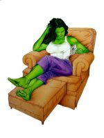 She Hulk at home by hawk5
