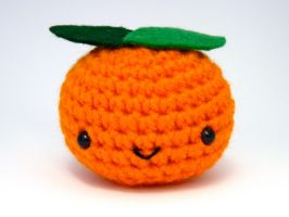 Amigurumi- Orange Clementine by button-tree
