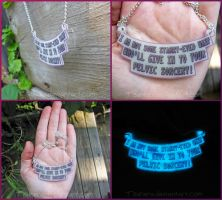 Gaurdians of the Galaxy Gamora Quote Necklace by Tsurera