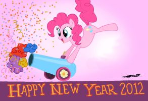 MLP - New Year Party Cannon by WillisNinety-Six