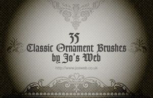 35 Classic Ornament PS Brushes by gojol23