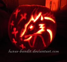 Anime Pumpkin: Haku by lunar-bandit