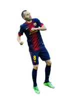 Andres Iniesta Render by bluezest1997