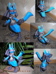 Lucario papercraft by Weirda208
