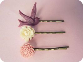 Berries and Cream Hair Pins by xcup-cakex