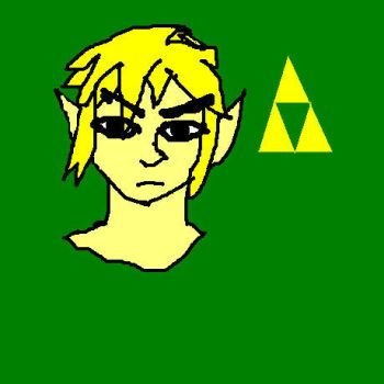 First attempt at drawing Link in Paint by Nerdgal333