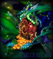 Fairy House Wire Wrapped Ornament by RebeccaBelding