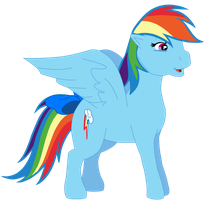 My fourth vector of Rainbow Dash. by Flutterflyraptor