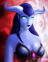 World of Warcraft fanart, Draenei female by astraliiss