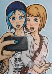 Comm: LiS Chloe and Max ACEO by LadyNin-Chan