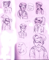 some humanized PM:TTYD babes by ProfessorDeLune