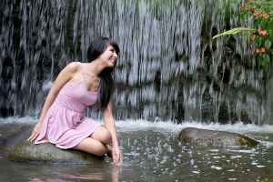 girl and the waterfall by fdjs