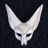 Pale Fennec Fox Mask by merimask