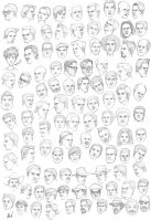 the 400th head sketches by M053AB
