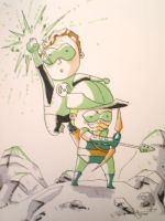 Green Lantern with Green Arrow by AgnesGarbowska