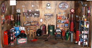Old Garage Dollhouse by ROWDYBIKER