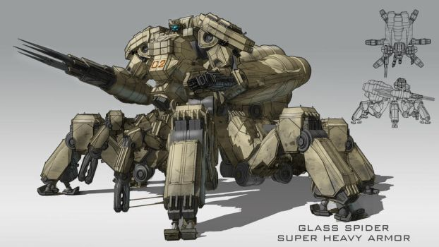 Glass Spider Super heavy Armor by partical0