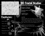 180 Fractal Brushes Set by Ecclesiocrat