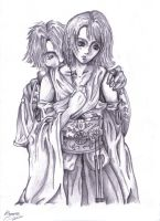 Tidus and Yuna Embrace by L0oKyNumBaS11